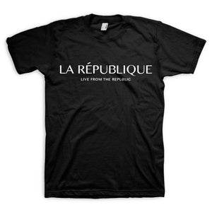 République Short-Sleeve Tee Shirt (Black)