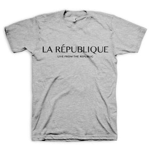 République Short-Sleeve Tee Shirt (Grey)