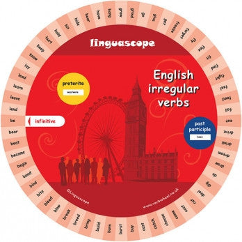 English Irregular Verb Wheel | Verb Wheels Ireland