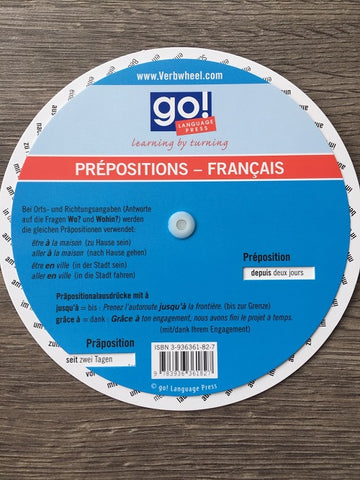 French - German Prepositions Wheel | Verb Wheels Ireland