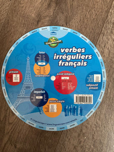 French A4 Verb Wheel | Multi-Pack