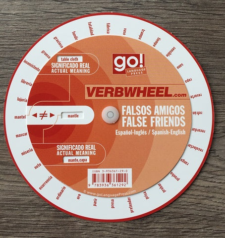 Spanish - English False Friends Wheel | Verb Wheels Ireland
