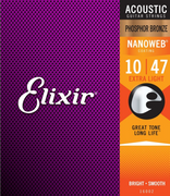 ELIXIR 11002 ACOUSTIC EXTRA LIGHT 80/20 BRONZE NANOWEB 0.10-0.47