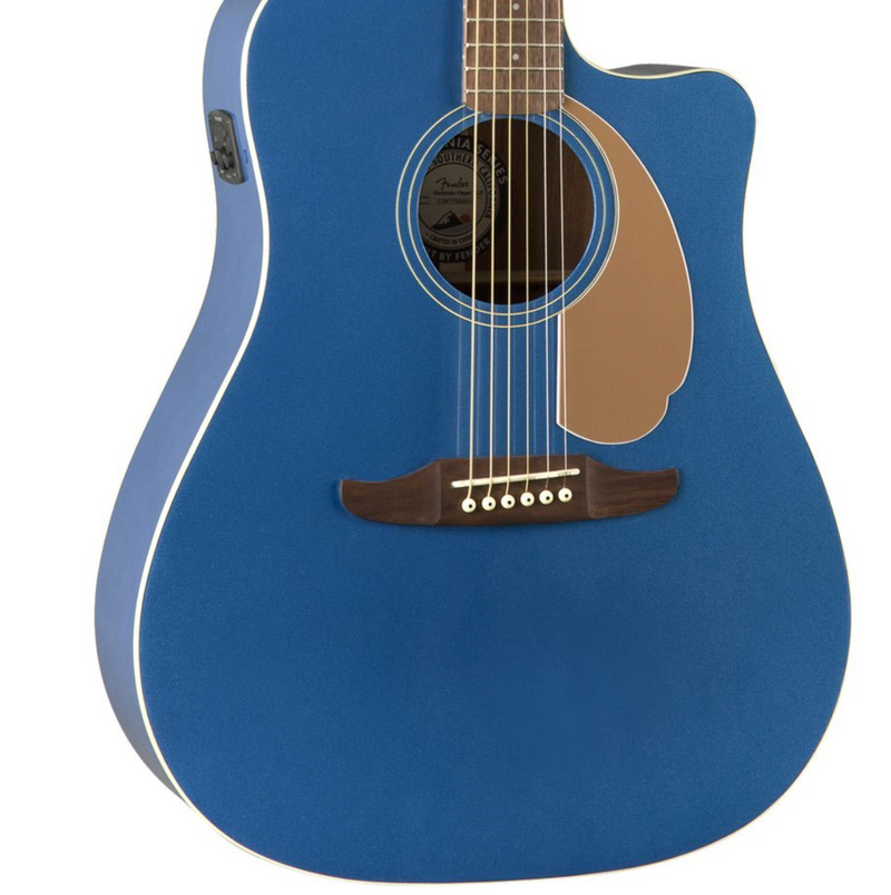 Fender redondo player acoustic electric guitar belmont blue