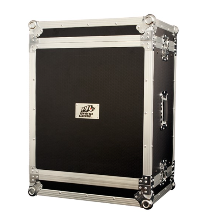 Flight case 8u rack 555mm depth
