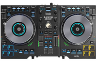 Hercules Jogvision DJ controller with animated in-jog led displays & motion-sensor Effects for Serato DJ Lite