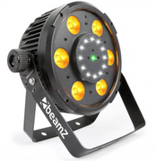 BX100 PAR 64 with COB LED and strobe + laser 6X 6W 4-1 RGBW LEDS 150.746B