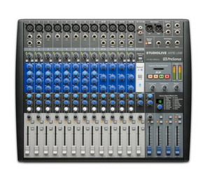 Presonus StudioLive AR16 USB 18-ch hybrid performance and recording mixer.