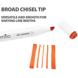 Milo Brush Tip Art Markers | Set of 24