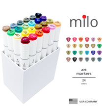 Load image into Gallery viewer, Milo Brush Tip Art Markers | Set of 24