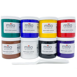 Milo Heavy Body Acrylic Paint Set of 8