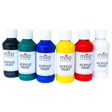 Load image into Gallery viewer, Milo Acrylic Paint 4 oz Bottles Set of 6