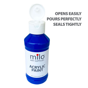 Milo Acrylic Paint 4 oz Bottles Set of 6