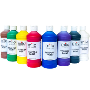 Milo Tempera Paint 16 oz Bottles Set of 8