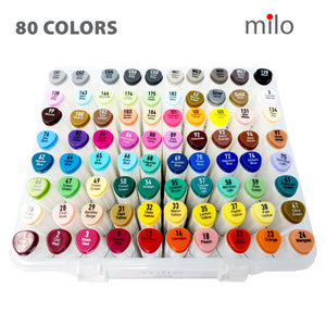 Milo Dual Tip Art Markers | Set of 80