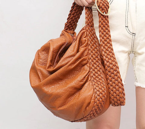 """Keira"" casual soft ruched hobo slouch bag"