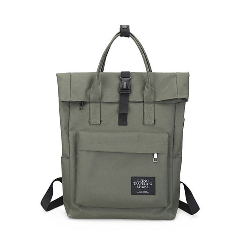 """Sydney"" external USB charge canvas backpack"