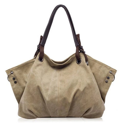 """Sienna"" large capacity casual canvas shoulder bag"