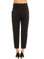 Soft Ponti Relax Pants - Black/ Navy