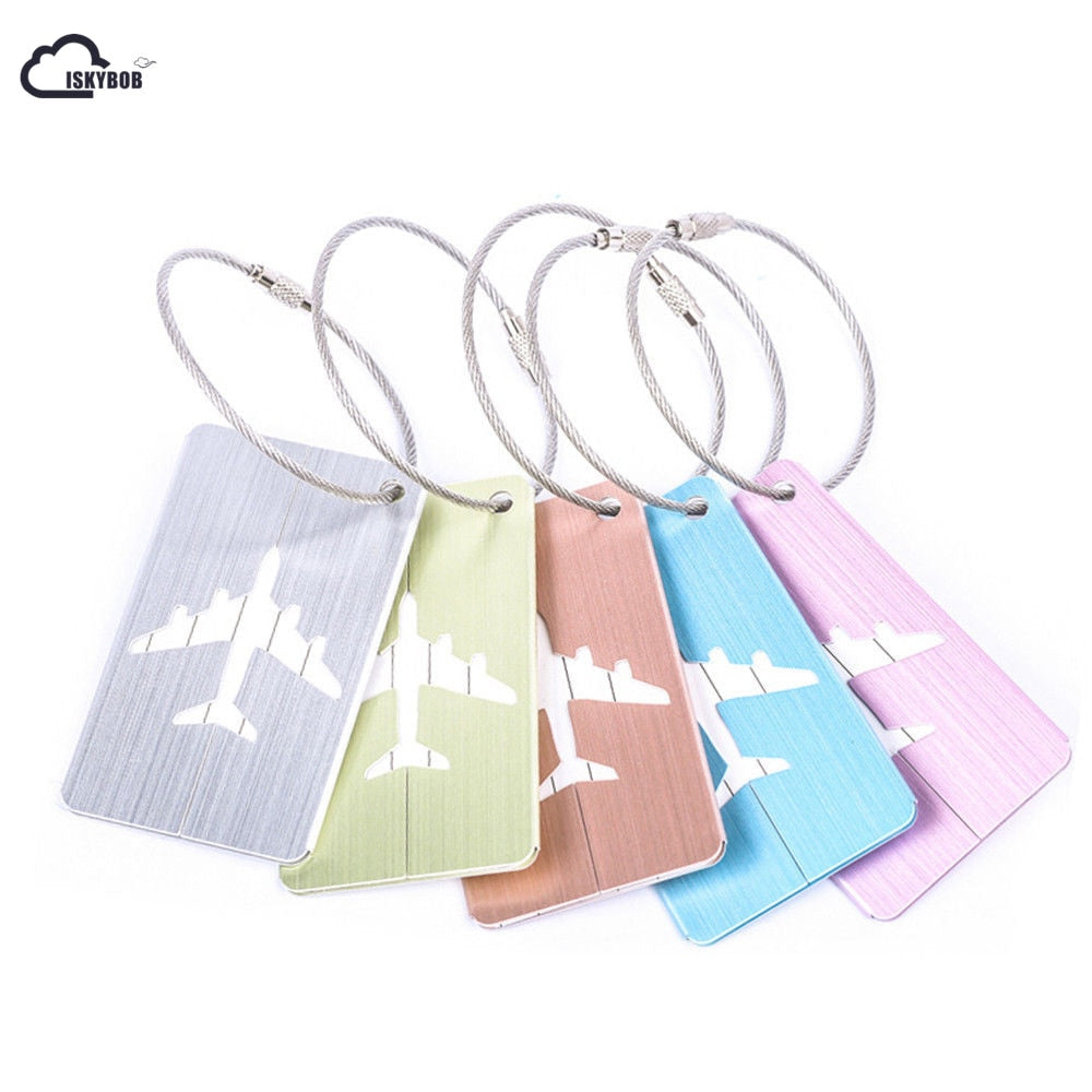 Airplane Luggage Tags (Pastel)