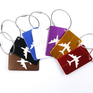 Airplane Luggage Tags (Vibrant)