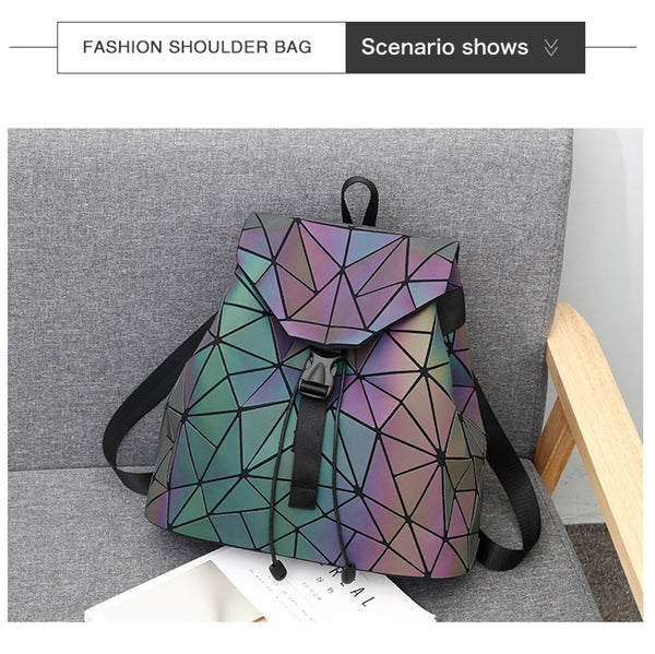 Luminous Geometric Shoulder Bag