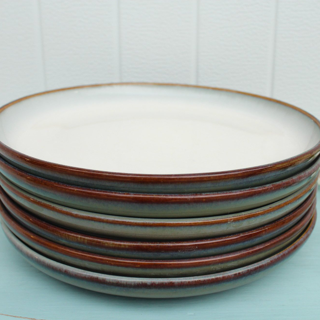 "Set (6) Sango Concepts ""Avocado"" Salad Plates"