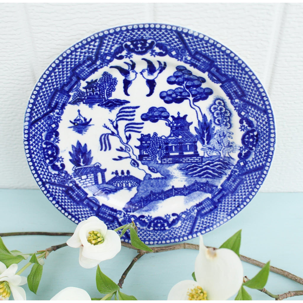 "Chinese Bread & Butter Dish, ""Willow Blue"""