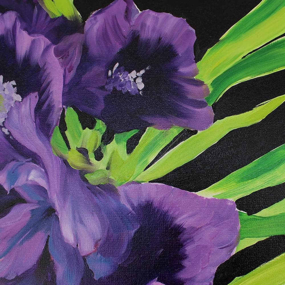 "Large Oil Painting ""Irises"" 24x36"""