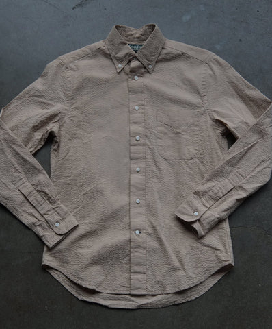 Toast Overdyed Seersucker Shirt by Gitman Vintage