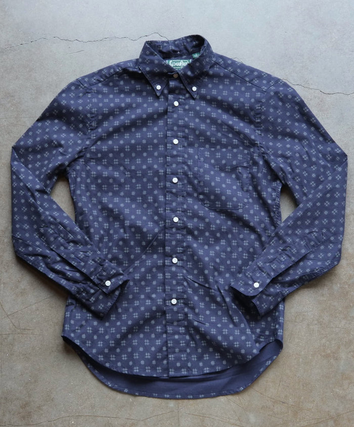 Japanese Indigo Ikat Shirt by Gitman Vintage