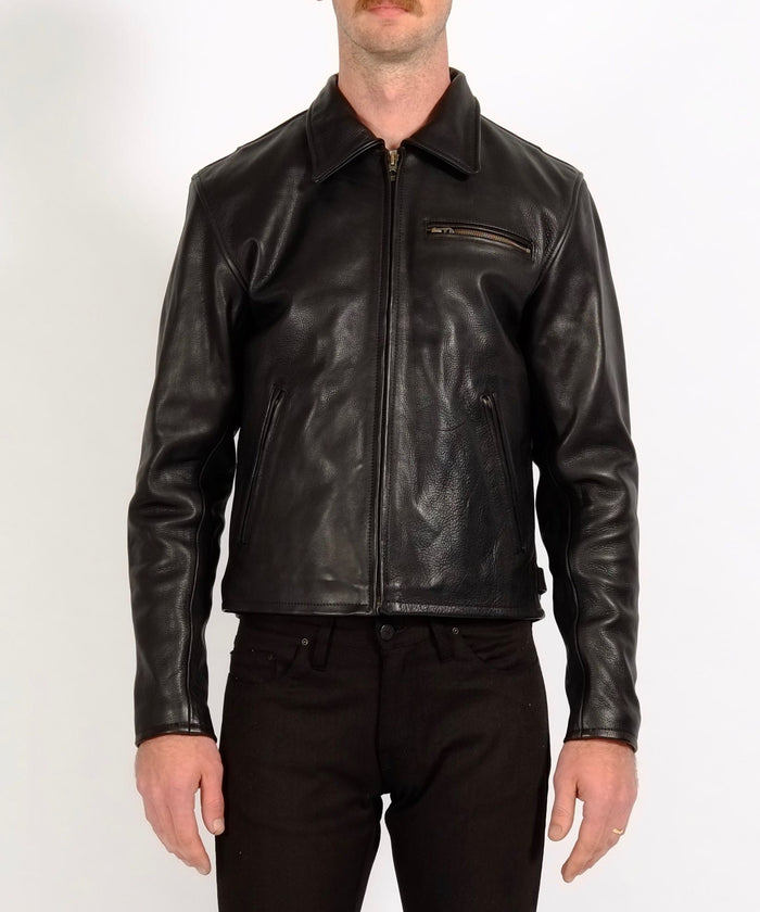 """Varenne"" Black Leather Jacket by Shangri-La Heritage"