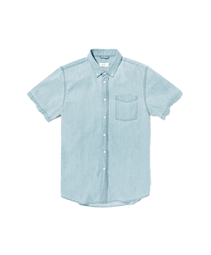 Esquina Denim Short Sleeve Shirt by Saturdays NYC