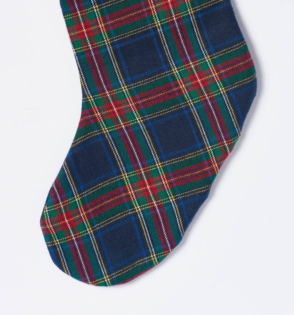 celina mancurti plaid christmas stocking