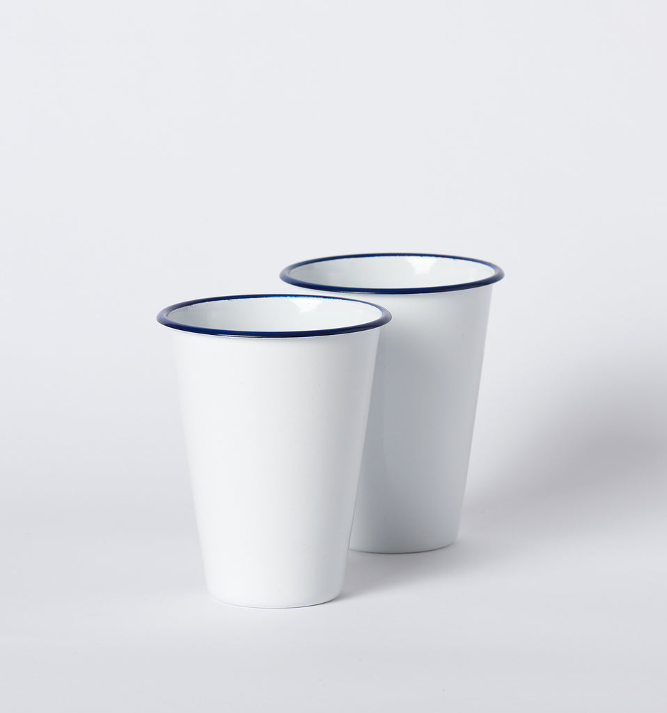Enamel Cocktail Tumblers by W & P Design