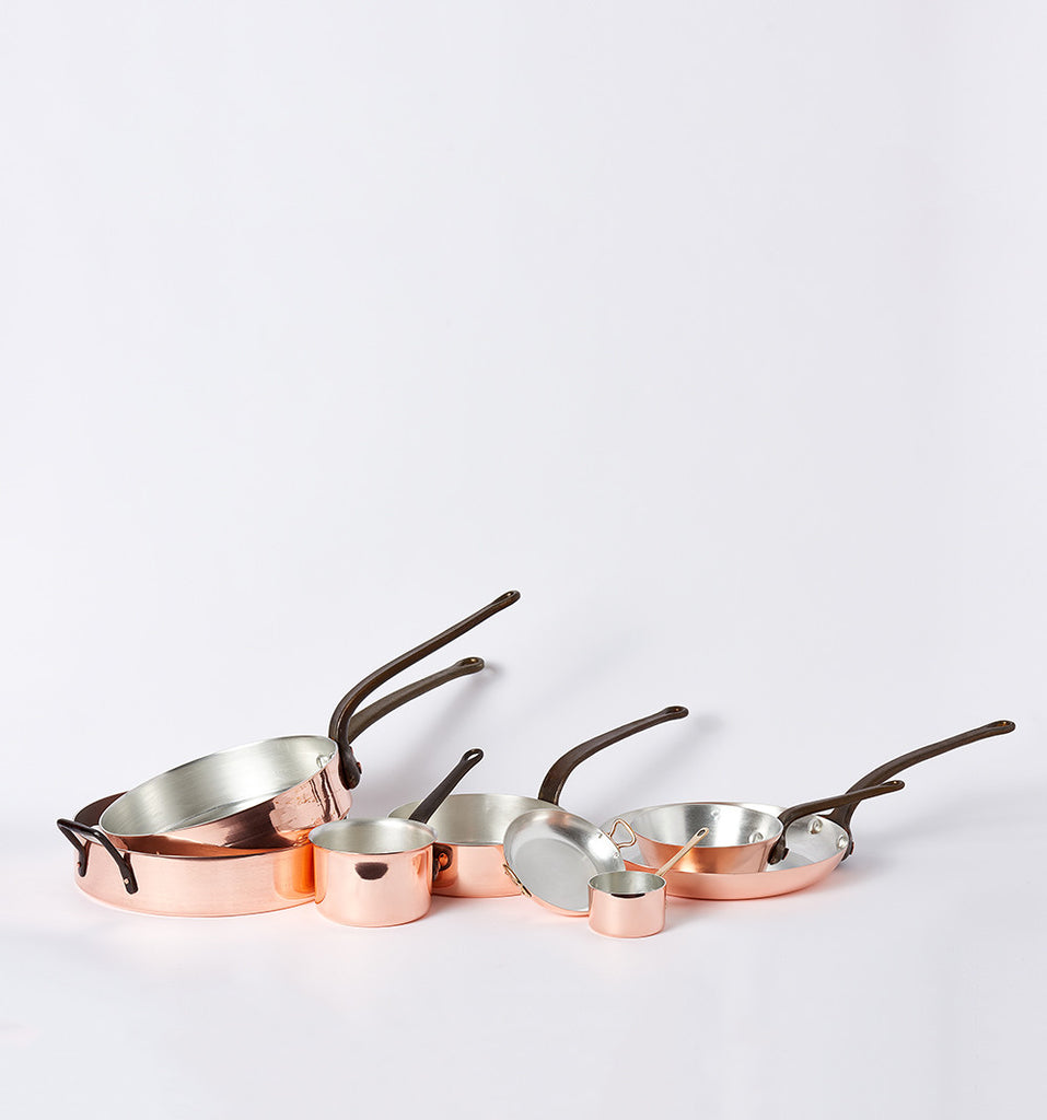 Copper Pans by Duparquet at Farm & Fable