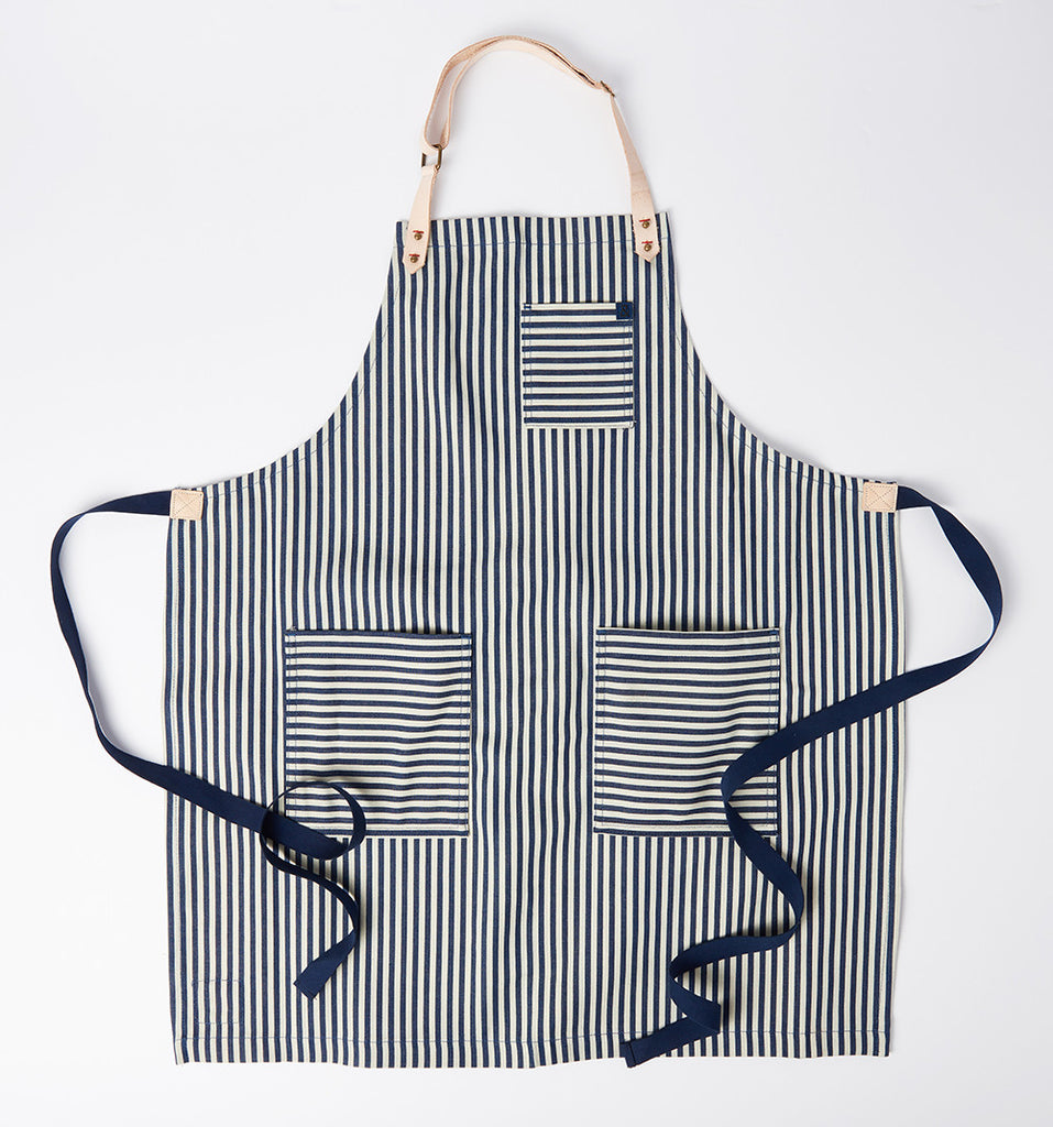 Striped Denim Apron by Hedley & Bennet