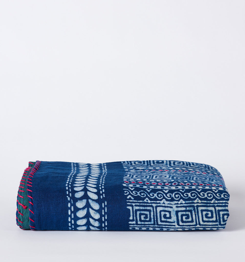 Indigo Throw Blanket by Ichcha