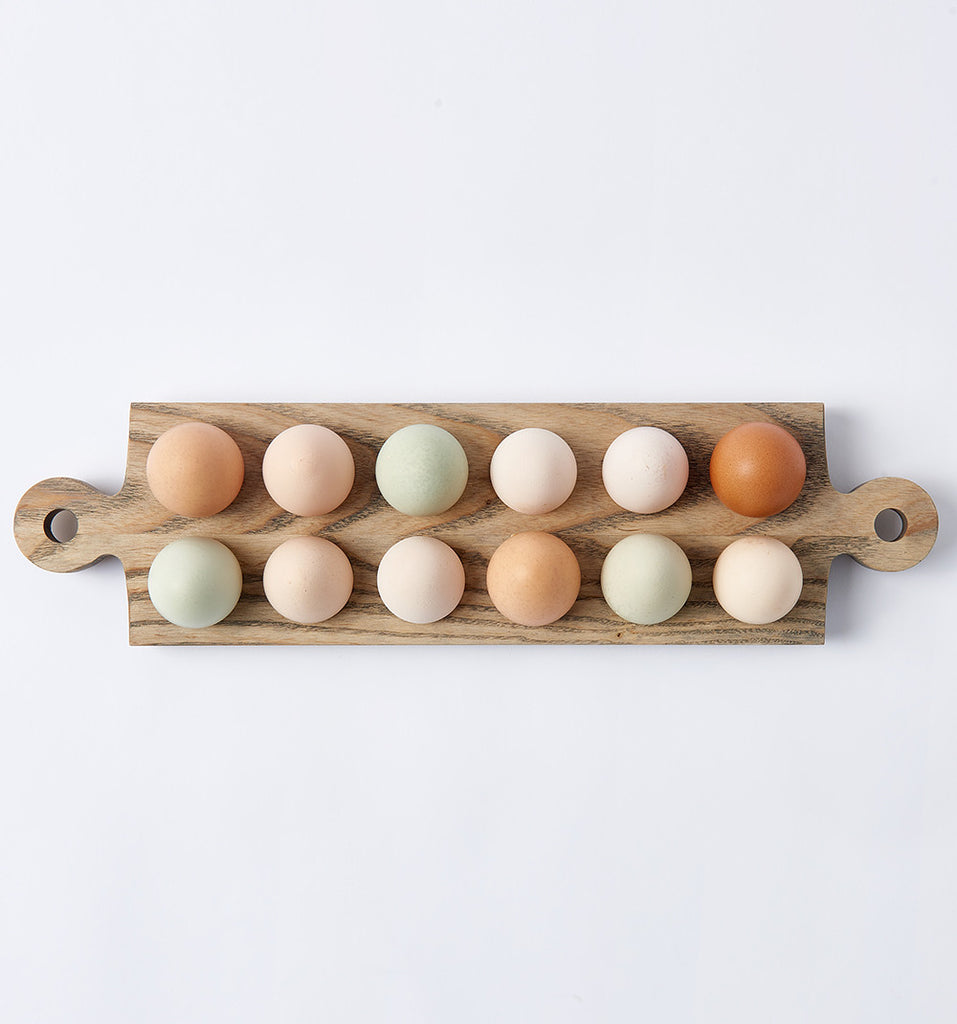Wooden egg board