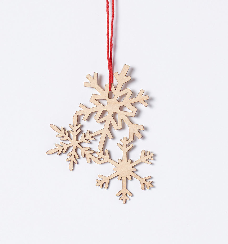 henderson dry goods woodcut snowflake ornaments