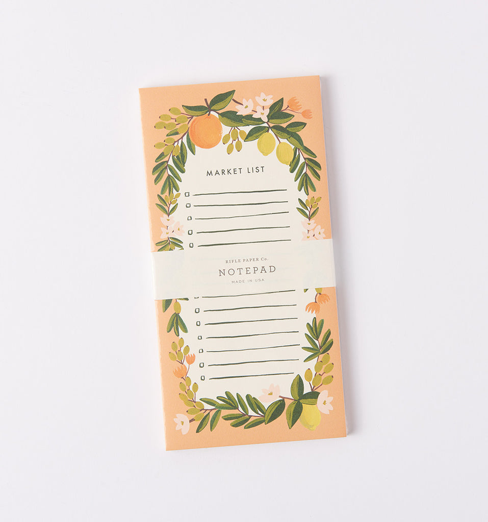 rifle paper co notepad with magnet