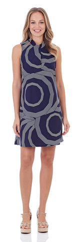 Willow Shift Dress in Umbrella Tops Navy