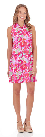 Willow Shift Dress in Wildflower Mini Fuchsia