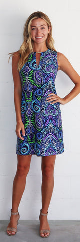 Nadine Dress <br>Jude Cloth - Wild Paisley