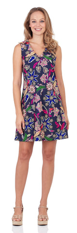 Juliet Shift Dress in Whimsical Floral Navy - FINAL SALE