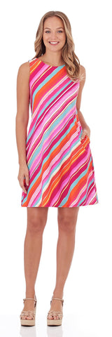 Melody Shift Dress in Mod Stripe Multi
