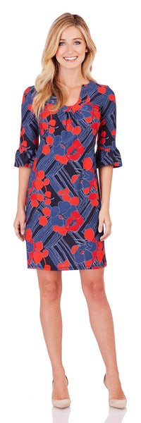Nancy Dress in Mod Floral Midnight - Jude Connally - 1