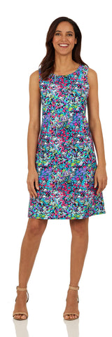 Beth Dress <br>Jude Cloth - Watercolor Floral LONG- FINAL SALE