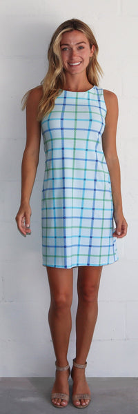 Beth Dress <br>Jude Cloth - Seaside Plaid