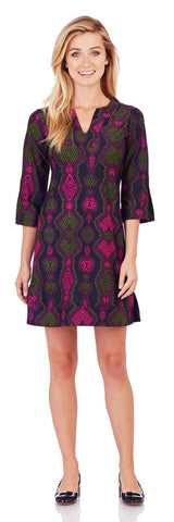 Megan Tunic Dress in Snakeskin Mulberry - Jude Connally - 1